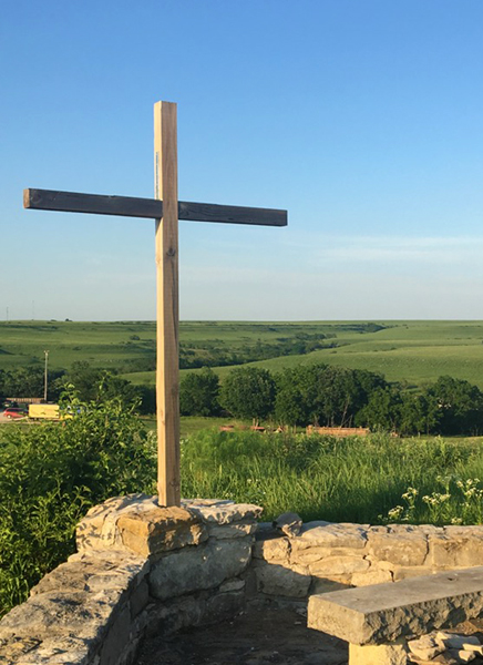 Cross on High-Y hill at Camp Wood