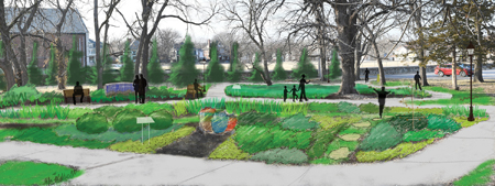 Proposed meditation garden at Bethany Place