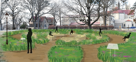 proposed prairie garden at Bethany Place
